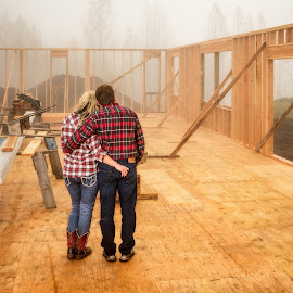 New Start by Evan Jones - People Couples ( home, new, starting, couple, house, construction )