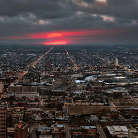 Day is Done by John Harrison - City,  Street & Park  Skylines ( d800, cityscape, chicago, nikon, jnhphoto )
