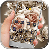 App Golden Rose Flower Theme APK for Windows Phone