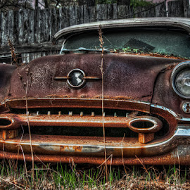 Oldsmibile by Chris Cavallo - Transportation Automobiles ( car, old car, maine, rusty, rust, oldsmobile, decay, abandoned )