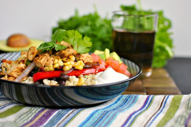 Chipotle Chicken Fajita Rice Bowls Recipe   Yummly