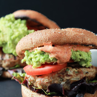 Southwestern Turkey Burgers with Guacamole and Spicy Mayo