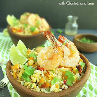 Shrimp and Cauliflower Rice Bowl with Cilantro & Lime