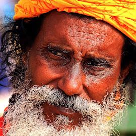Happiness by Sandip Rajguru - People Portraits of Men ( face, monk, men, portrait,  )