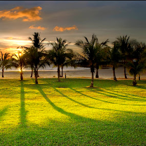 Sunset's Shadow by Mohamad Sa'at Haji Mokim - Landscapes Sunsets & Sunrises ( sunset )