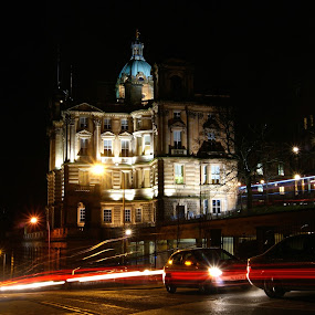 mound museum edinburgh by Danny Charge - City,  Street & Park  Street Scenes ( night.light, dark, trails, evening )