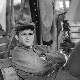 The Reenactor by Scott Bland - People Portraits of Men