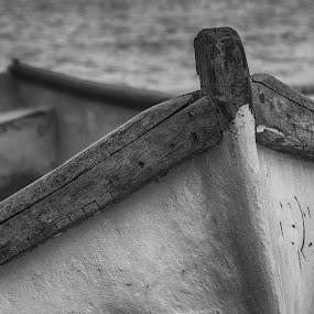 boat by Adrian Penes - Transportation Boats ( boats, romania, constanta, black&white )