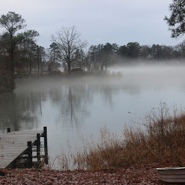 Fog by Ethan Steinberg - Landscapes Weather ( clouds, water, chesapeake, bay, fog, fish, fall, lake, landscape, pretty, dock )