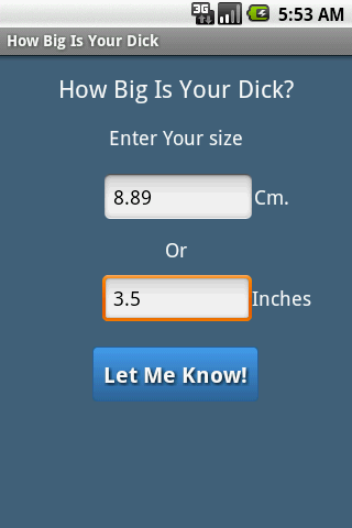 How big dick