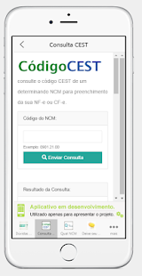 Consulta CEST e NCM - screenshot