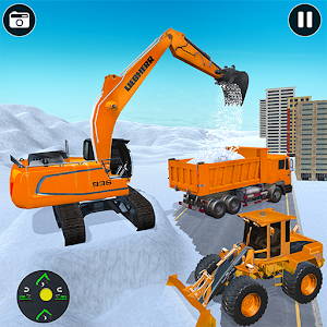 Real Heavy snow excavator simulator for pc