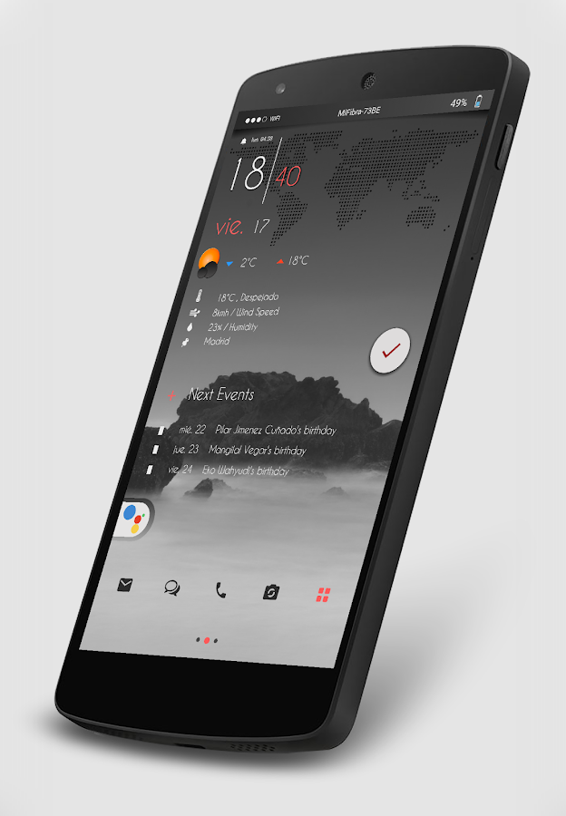 Gray Bloom XIU for Kustom/klwp Screenshot 2