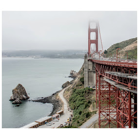 Golden Gate Bridge by Steven Greenbaum - Travel Locations Landmarks ( san francisco )