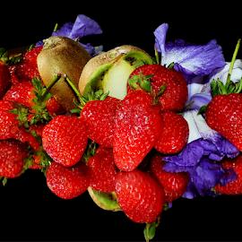 fruits with iris by LADOCKi Elvira - Food & Drink Fruits & Vegetables ( fruits, flower,  )