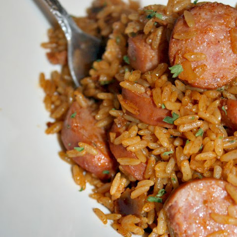 One Pot Jambalaya With Turkey Sausage