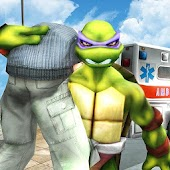 Game Flying Ninja Turtle Warrior City Rescue Mission 3D apk for kindle fire