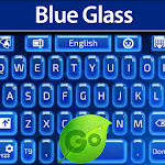 GO Keyboard Blue Glass Icon