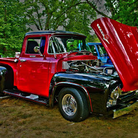 She Will turn Heads by Jack Powers - Transportation Automobiles ( vintage, car show, custom )