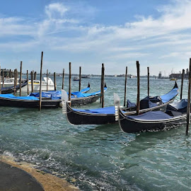 Venice  by Orit Shlomov - Transportation Boats ( #venice #italy #gondola )