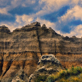 The Ridge by Sheen Deis - Landscapes Caves & Formations ( rock formations, landscape, badlands )