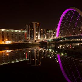 Clyde arc glasgow by Gordon Stewart - Buildings & Architecture Bridges & Suspended Structures ( scotland, clyde, glasgow, clydearc, bridge )