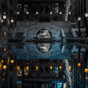 Into the Water by Nigel Bullers - Buildings & Architecture Other Interior ( water, interior, reflection, building, fountain, Fantasy, Fairies, ColoRiffic, Mystical, reflections, people, places, architecture, mirror )