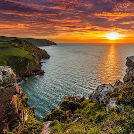Valley of Sunsets by Tămaş Mikey - Landscapes Sunsets & Sunrises ( sunset, landscape, coast, valley of the rocks, island )