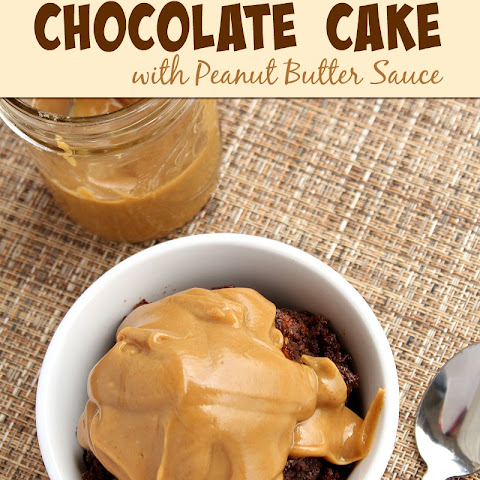 Slow Cooker Chocolate Cake with Peanut Butter Sauce