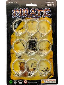 """Праздник, Праздник """"Игровой Набор Пират"""" Кольцо 8 шт."""