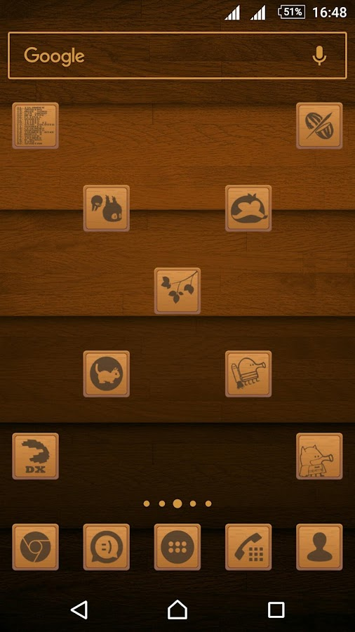 Wooden Icons Brown Screenshot 1