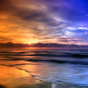 Old Bar. by Tyhe Reading - Landscapes Sunsets & Sunrises ( water, clouds, sky, australia, beautiful, pentax, blur, sunrise, beach )