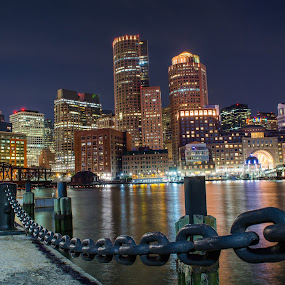 Boston by Jennifer Tsang - City,  Street & Park  Night ( boston, nightscape )