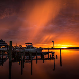 Rain In The Sunset by Ron Maxie - Landscapes Sunsets & Sunrises