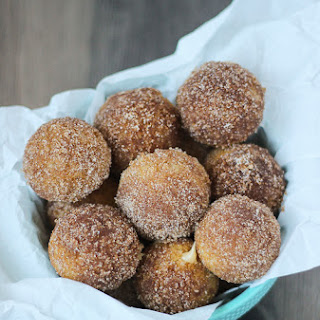 Churro Donut Holes with Dulce de Leche Filling