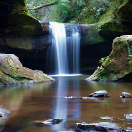 Dog Slaughter Falls by Ivan Gibson - Landscapes Waterscapes