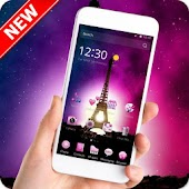 APK App Pink Paris Eiffel Tower for BB, BlackBerry