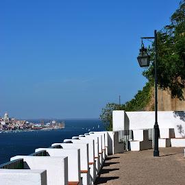 A piece of Almada by Paula NoGuerra - City,  Street & Park  Vistas ( waterscape, views, view, landscape, portugal, city )