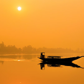DAWN by Aritra Nath - Transportation Boats ( dawn, sunrise, travel, morning, boat )