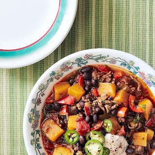 Pumpkin, Beef, and Black Bean Chili