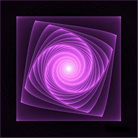 Mesmeriazer by Nancy Bowen - Illustration Abstract & Patterns ( vortex, purple, spinning, square )