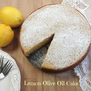 Lemon Olive Oil Cake with Wild Blueberry Compote
