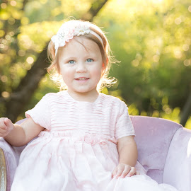 Blue Eyed Princess by Evelyn San - Babies & Children Child Portraits ( canon, pastel, childphotography, blueeyes, princess, prettyinpink, goldenhour, portrait )