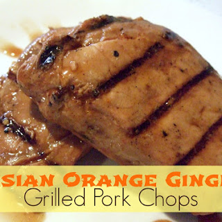 Grilled Asian Orange Pork Chops