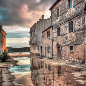Rudina Pirovac by Branko Meic-Sidic - City,  Street & Park  Street Scenes ( hystorical, reflection, colourful, hdr, croatia, square, stonehouses, dramaticsky, colours, pirovac )