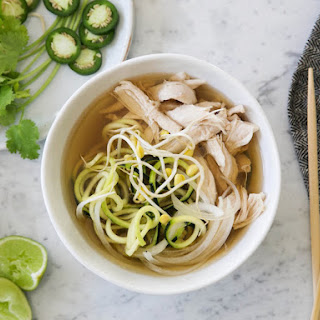 Chicken and Zucchini Noodle Pho