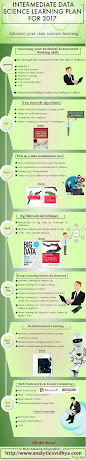 Infographic – Learning Plan 2017 for Intermediates in data science