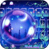 App Night Sky Keyboard theme APK for Windows Phone