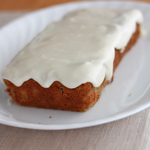 Pear Spice Cake with Cream Cheese Glaze