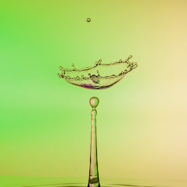 Gin and Tonic by Colin Harley - Abstract Water Drops & Splashes ( macro, micro, splash, d750, droplet, drop, splash art, green, 105mm, art, nikkor, nikon, colours )